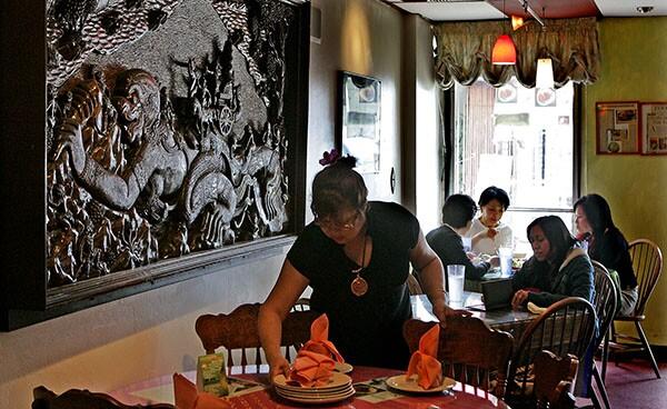 """Sarintip """"Jazz"""" Singsanong sets a table at Jitlada"""