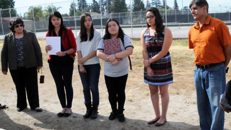 El Monte City Council & El Monte Union High School District Visit to Knights Garden at Arroyo High School