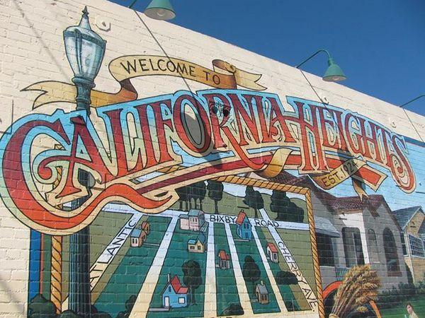 California Heights mural by Art Mortimer   Photo: California Heights Neighborhood Association Facebook