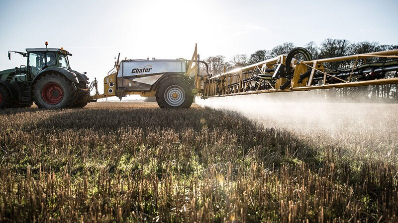Spraying glyphosate on a stubble field | Photo: Chafer Machinery, some rights reserved
