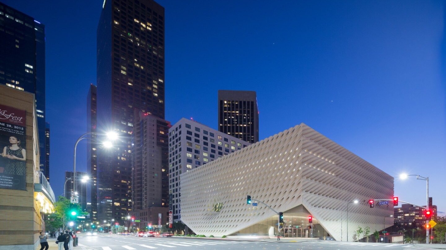 The Broad on Grand Avenue in downtown Los Angeles. | Photo: Iwan Baan, courtesy of The Broad and Diller Scofidio + Renfro.