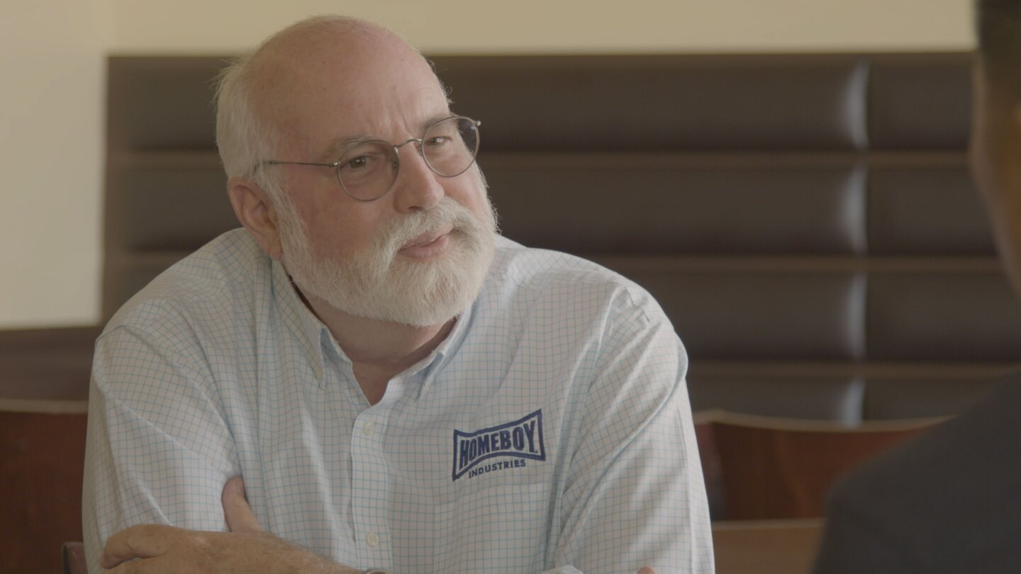 """In """"Transformation,"""" Roy spends time with Father Greg Boyle of Homeboy and Homegirl Industries, the pioneer of socially minded food enterprises."""