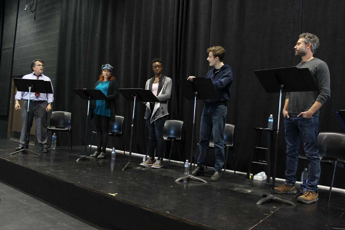"The cast of La Jolla Playhouse's DNA New Work Series reading of ""The Coast Starlight,"" a Playhouse commission by Keith Bunin. 