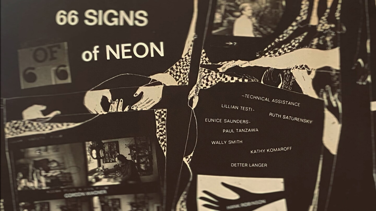 """Materials for '66 Signs of Neon' 