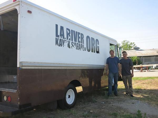 Steve Appleton and Grove Pashley in front of their custom van.