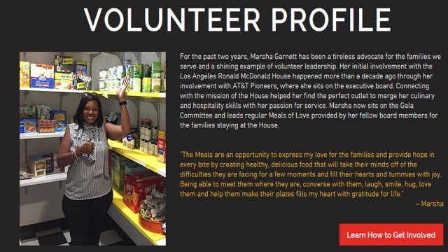Los Angeles Ronald McDonald House Volunteer Profile of Marsha Garnett | Local Heroes 2019