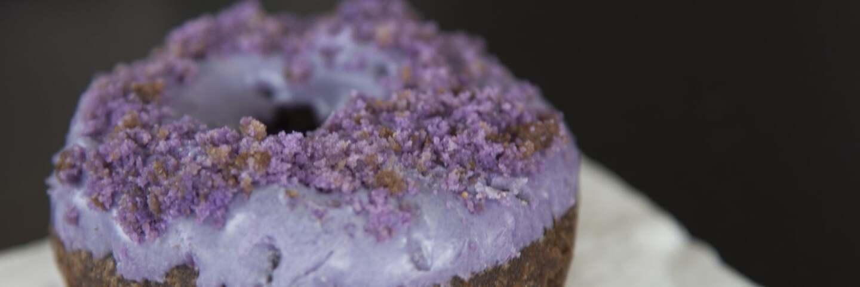 Ube Purple Crumb Cake Donut from DK's Donuts | Marnette Federis