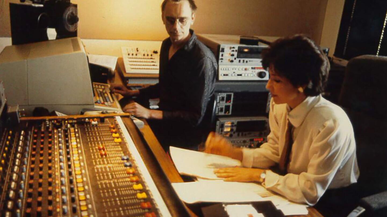 Val Zavala in studio circa 1988