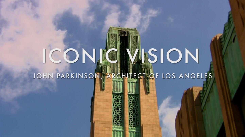 "Key Art for ""Iconic Vision: John Parkinson, Architect of Los Angeles"" featuring Bullocks Wilshire."