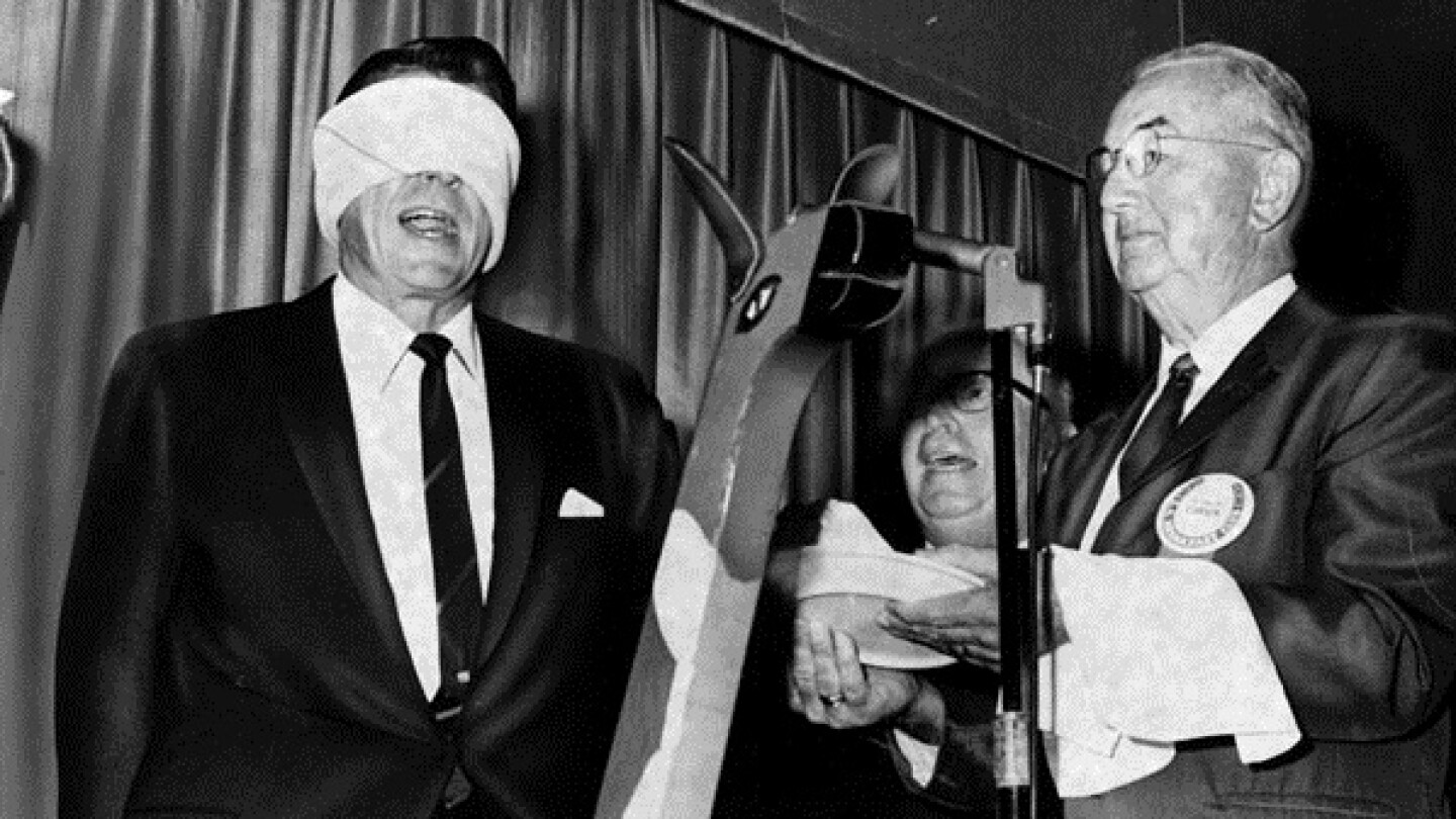 Ronald Reagan being inducted into the L.A. Breakfast Club, Herald-Examiner, July 26, 1967