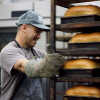 "Baking bread at Homeboy Industries | Still from ""Broken Bread"""