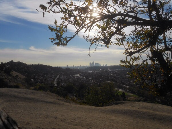 A view of downtown Los Angeles from Ernest E. Debs Regional Park.