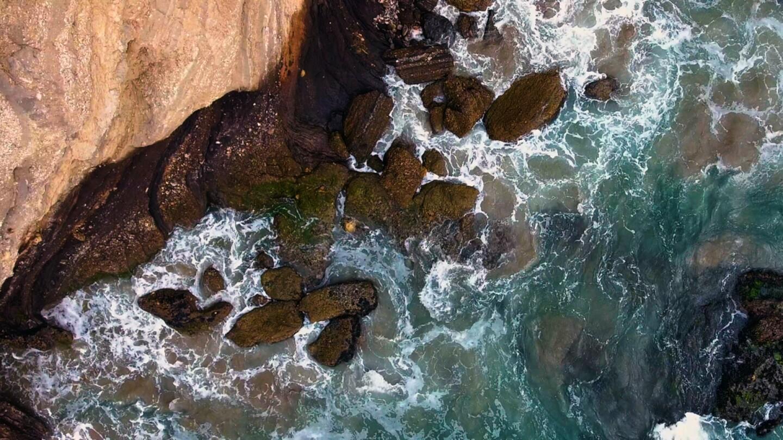Waves crashing against rocks off Hollister Ranch land. | Gevork Mkrtchyan