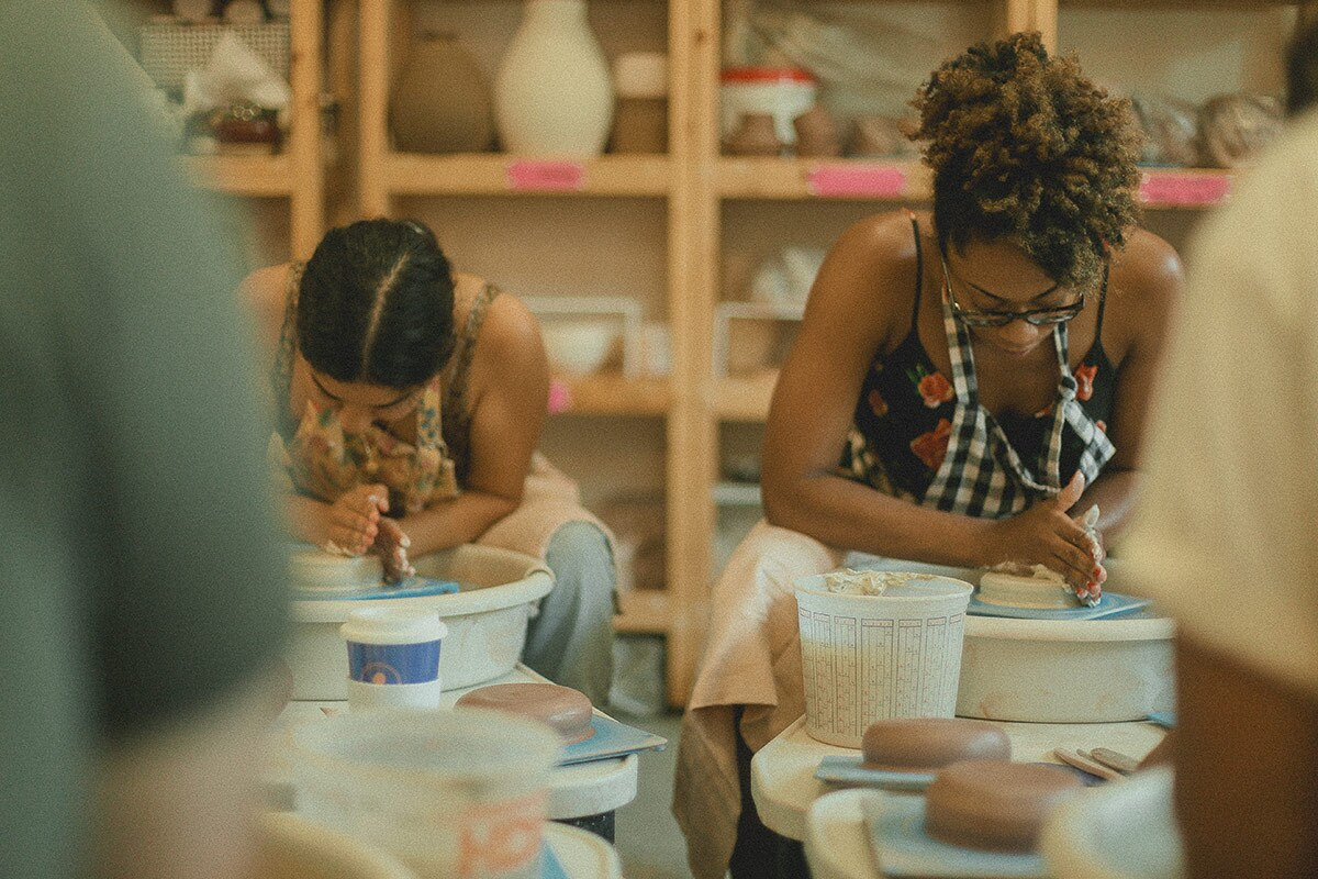POT customers participate in shop's activities | Rikki Wright