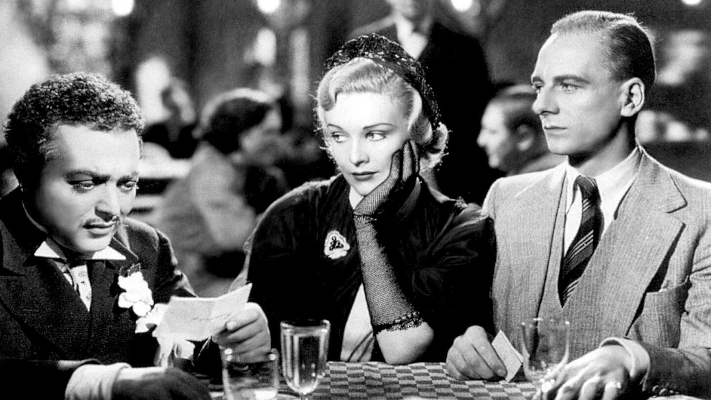 """John Gielgud, Peter Lorre and Madeleine Carroll in """"The Secret Agent."""""""