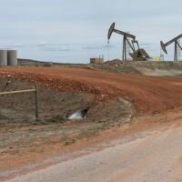 Pumpjacks in a Bakken oilfield | Photo: Alan Graham McQuillen, PhD, some rights reserved