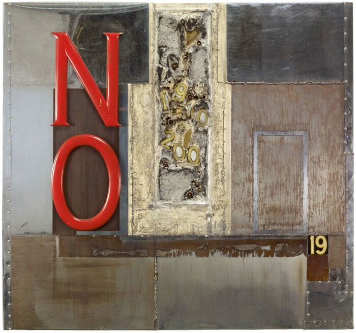 """John Outterbridge, """"No Time for JivinGÇÖ,"""" from the Containment Series (1969)."""