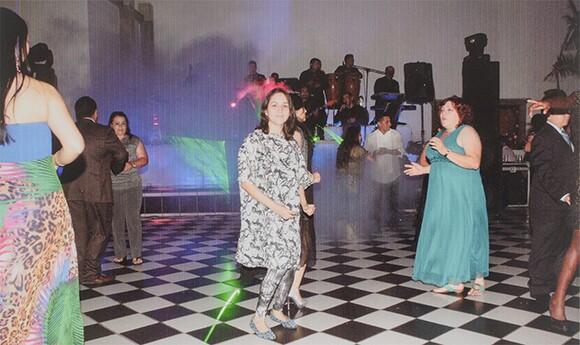 "Carmen Argote, ""Events."" Argote crashing someone's party."