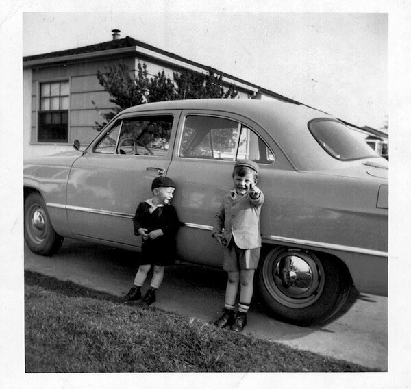 Lakewood, 1954 – the author, D.J. Waldie (left), with his brother