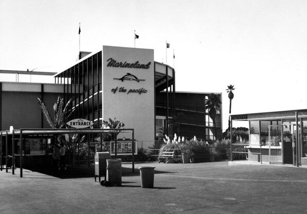 Main entrance to Marineland of the Pacific. Courtesy of the Dick Whittington Photography Collection, USC Libraries.