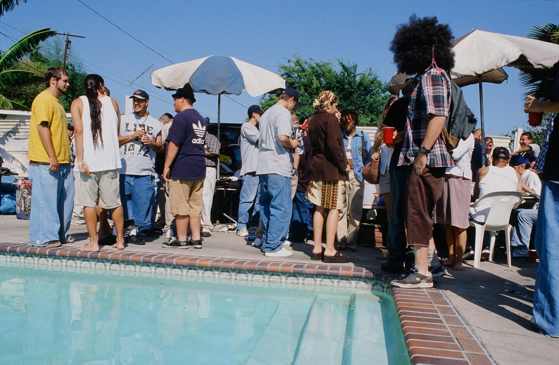 Annual graf backyard pool party