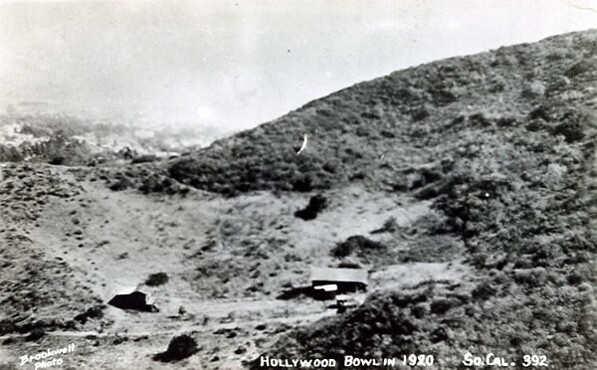Daisy Dell in 1920, before it became the Hollywood Bowl. Courtesy of the Hollywood Bowl Museum.
