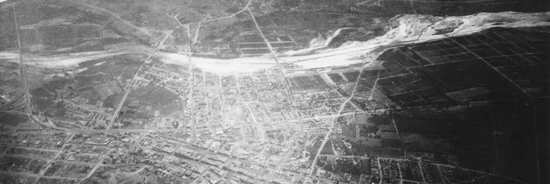 1887 aerial image of Los Angeles