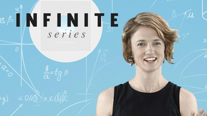 "Mathematician Kelsey Houston-Edwards in key art for ""Infinite Series."""