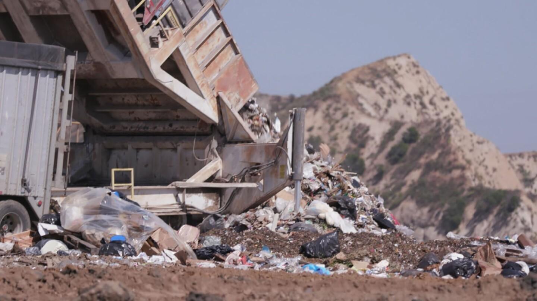 Trash at Chiquita Canyon Landfill