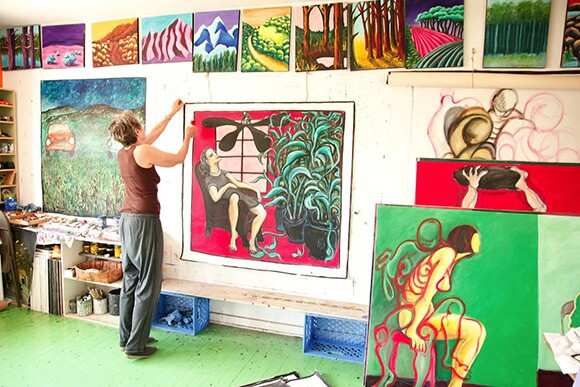 Mary Woronov working in her studio   Photo: Victor Woronov
