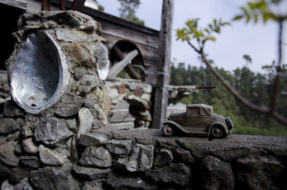 This toy truck is just one of the many whimsical details at Nitt Witt Ridge in Cambria. | Chris Daly.