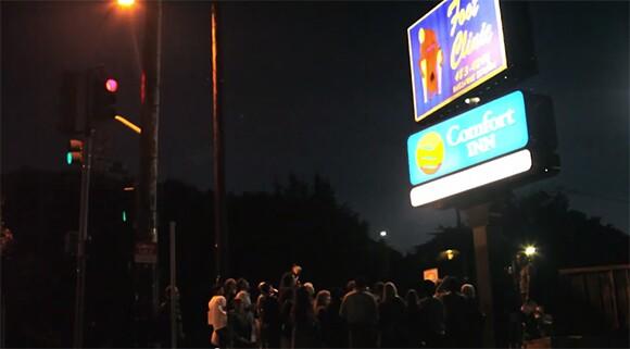 The HafoSafo Chorus and the Sunset Foot Clinic Sign