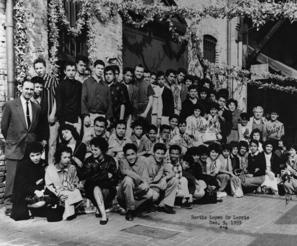San Fernando Valley H.S. field trip in 1959 | Courtesy of Los Angeles Public Library