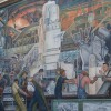 "A portion of the ""Detroit Industry"" murals by Diego Rivera that adorn the walls of Rivera Court at the Detroit Institute of Arts 
