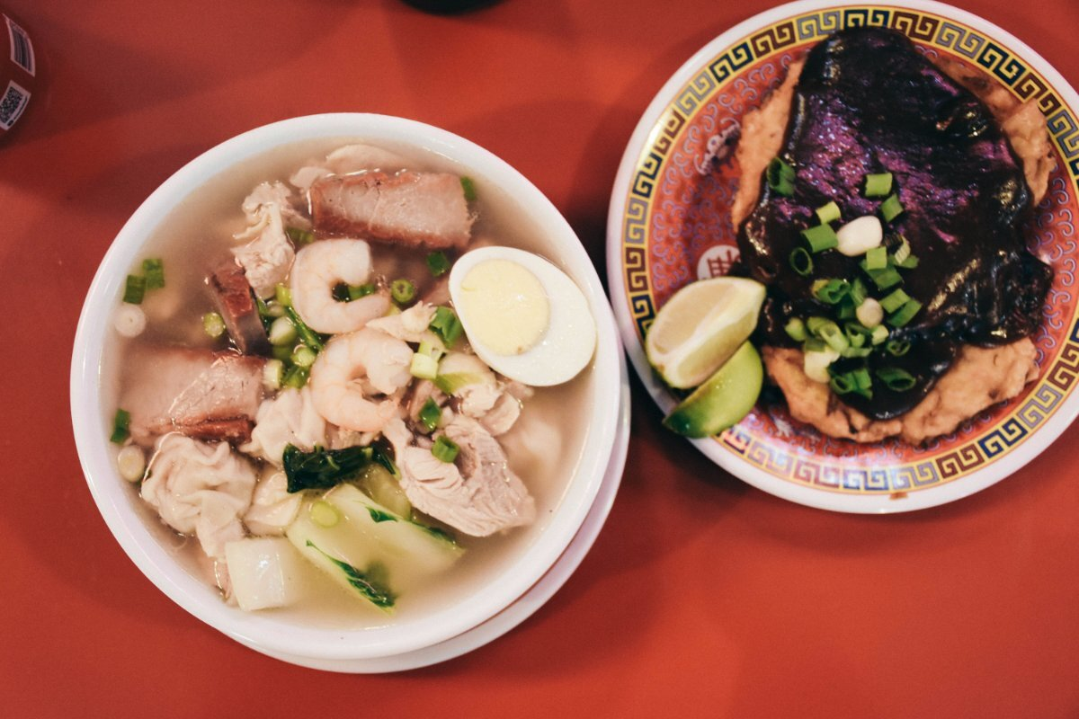 China Cafe's wonton soup or egg foo young | Clarissa Wei Grand Central Market
