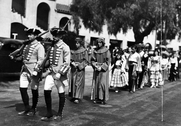 A 1936 re-enactment of the founding of Los Angeles. Courtesy of the Herald-Examiner Collection, Los Angeles Public Library.