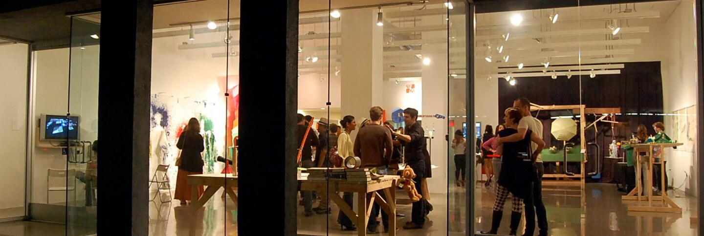 An exhibition opening scene at A+D Museum in 2010.   Carren Jao