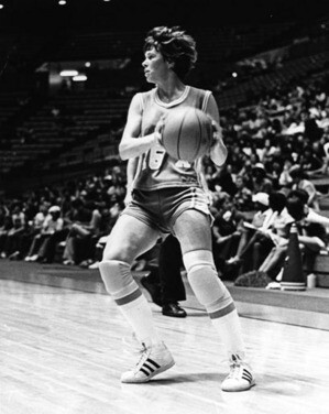 Ann Meyers, playing for UCLA. Photo from the Herald-Examiner Collection and courtesy the Los Angeles Public Library