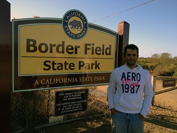 Daniel Watman at Border Field State Park. | Photo: Kinsee Morlan
