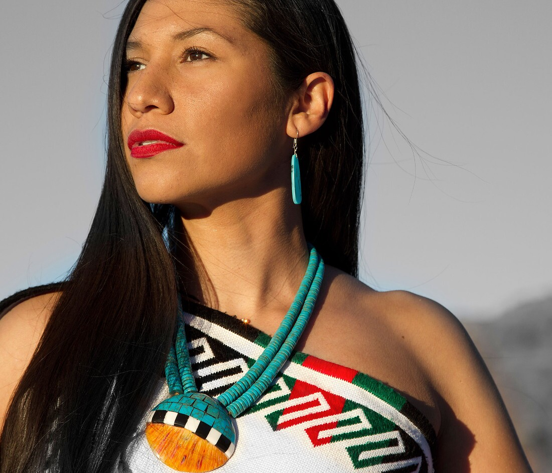 Juanita Pueblo of Jemez. Photographed by Matika Wilbur for Project 562.