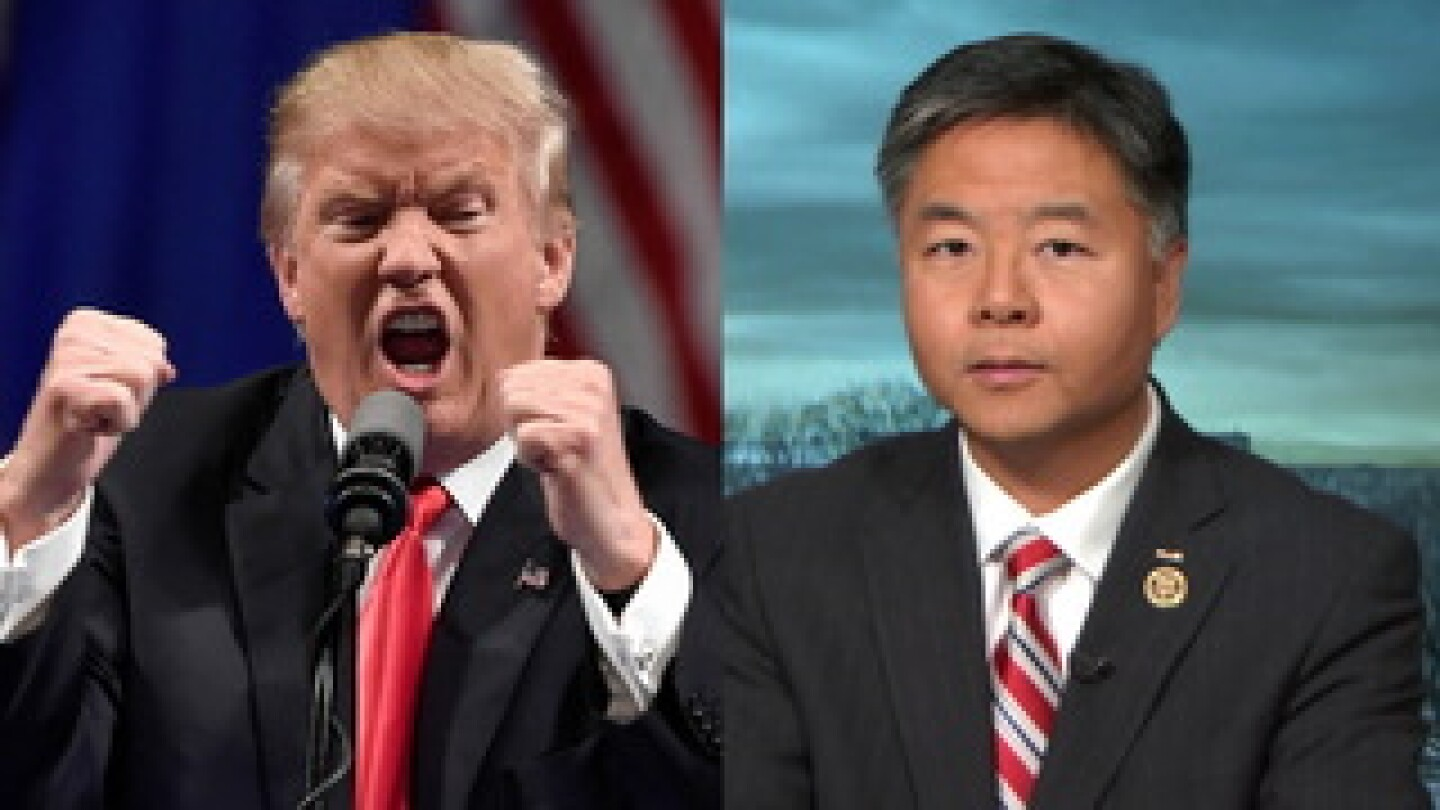 Donald Trump and Ted Lieu