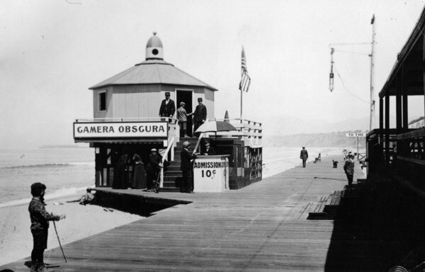 Camera Obscura on the Santa Monica Boardwalk, ca. 1900 | Security Pacific National Bank Collection, Los Angeles Public Library