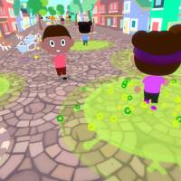 """Scene from computer game """"Can You Save the World?""""  which aims to help children understand how social distancing can save lives during the coronavirus pandemic.   Credit: Martin Jacob"""