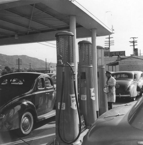 Gas station at Burbank Lockheed plant