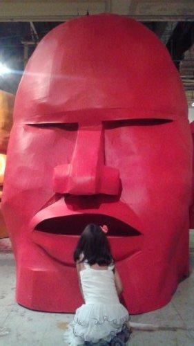 Giant head piñata for Giacomo Bufarini, a.k.a. RUN's gallery show at Howard Griffin   Courtesy of Piñata Design Studio