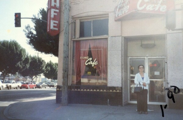 Ito Matoba in front of the Atomic Cafe soon after its closure