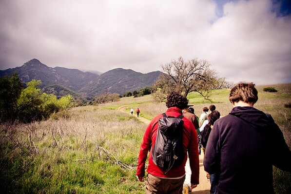 Hiking at Malibu Creek State Park in L.A. County