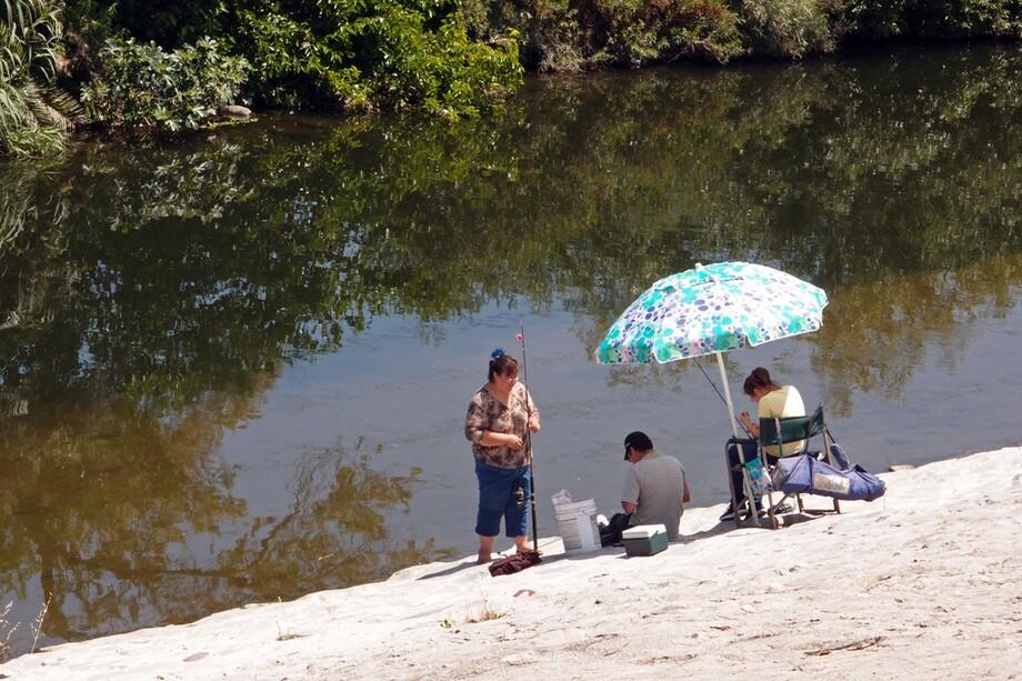 Fishing is allowed, with a license, in the Recreation Zone