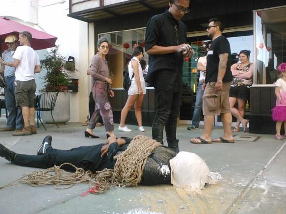 <em>chino</em>, <em>indio</em>, <em>negro </em>, Perform Chinatown 2013 | Photo: Chris Albidrez