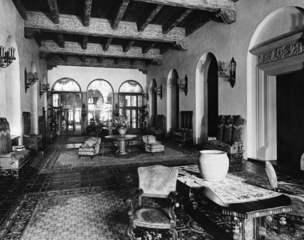 Knickerbocker Hotel interior | Security Pacific National Bank Collectio, Los Angeles Public Library